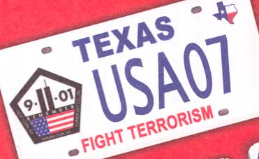 texas custom plates 2007