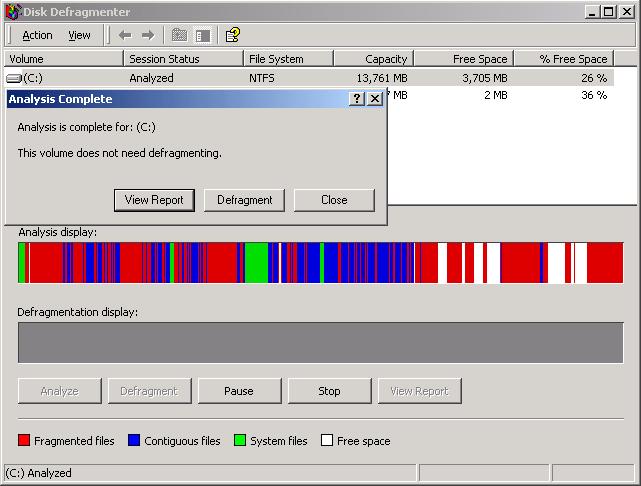 defrag windows vista
