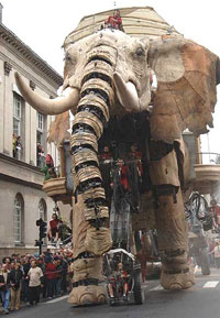 giant animatronic elephant