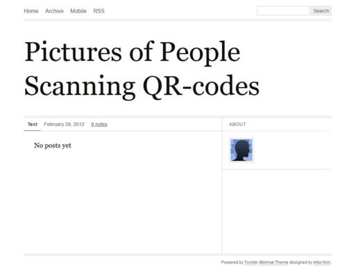 Pictures of People Scanning QR-codes